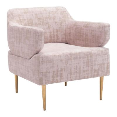 Oasis Pink Velvet Arm Chair