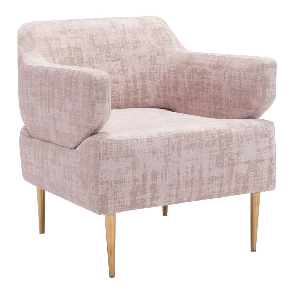 Oasis Pink Velvet Arm Chair