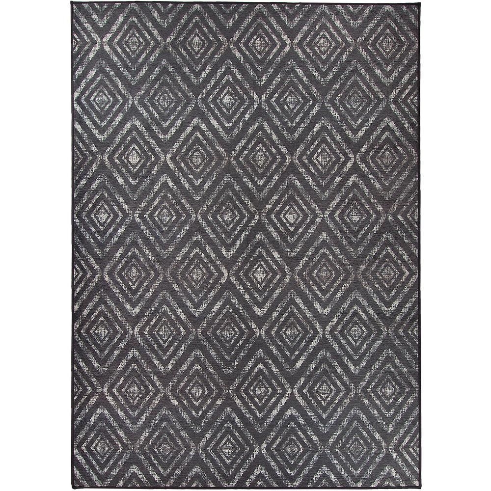 Ruggable Washable Prism Dark Grey 5 ft. x 7 ft. Stain Resistant Area Rug