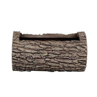 Horizontal 10 in. H Oak Bark Color Polyurethane Planter