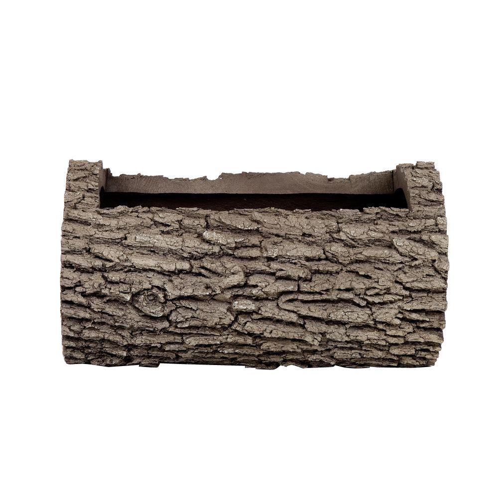 Horizontal 10 in. H Oak Bark Color Polyurethane Planter