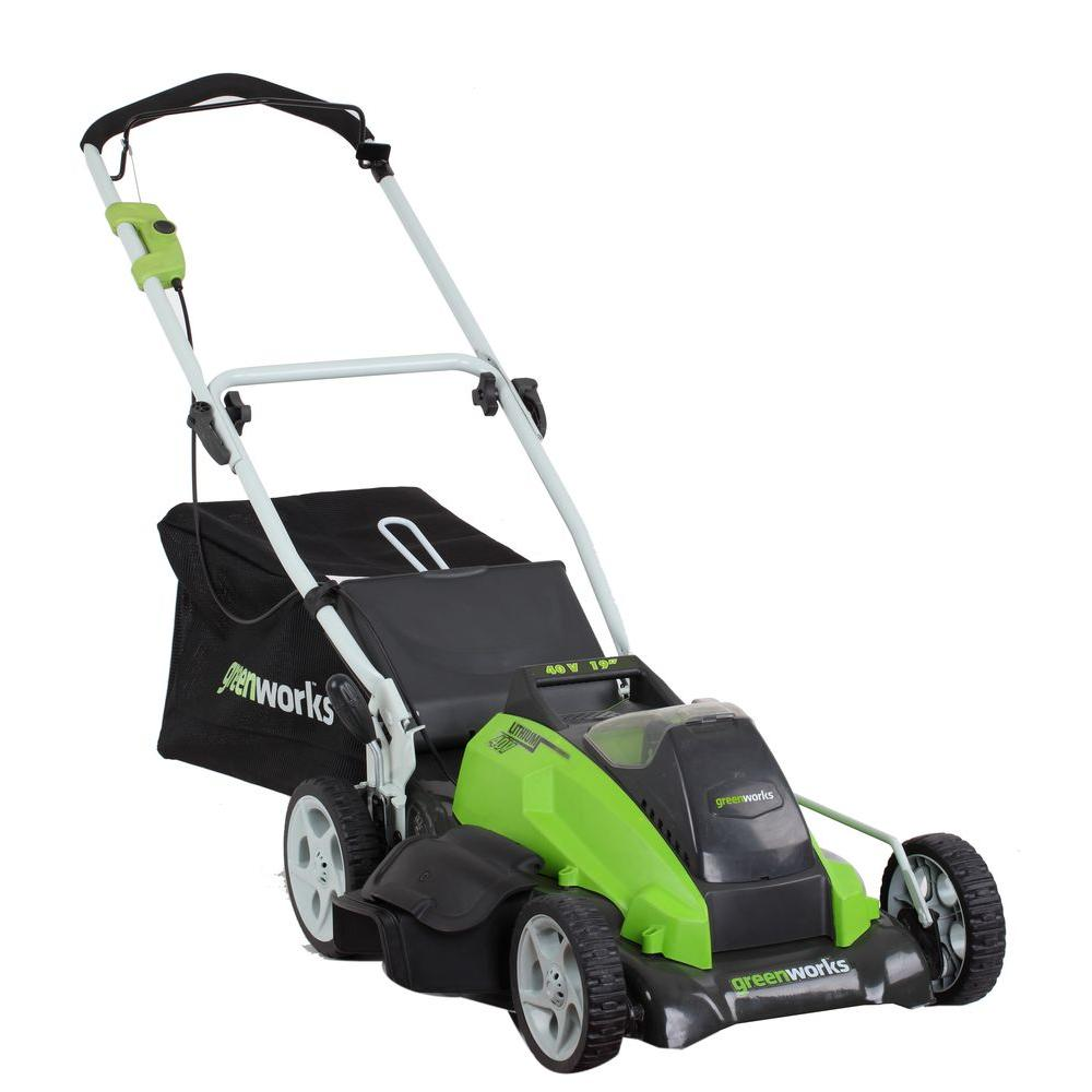 G-MAX 19 in. 40-Volt Lithium-Ion Cordless Battery Walk Behind Push Lawn