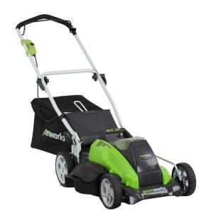 Greenworks G-MAX 19 inch 40-Volt Lithium-Ion Cordless Battery Walk Behind Push Lawn Mower with Battery and Charger... by Greenworks