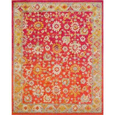 Penrose Krystle Rust Red 8 ft. x 10 ft. Area Rug