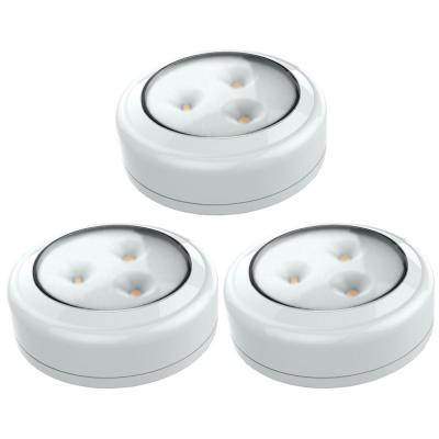 LED White Puck Light (3-Pack)