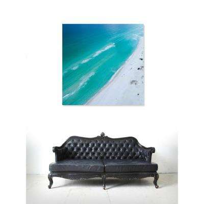 36 in. x 36 in. 'Beach Squared' by Oliver Gal Printed Framed Canvas Wall Art