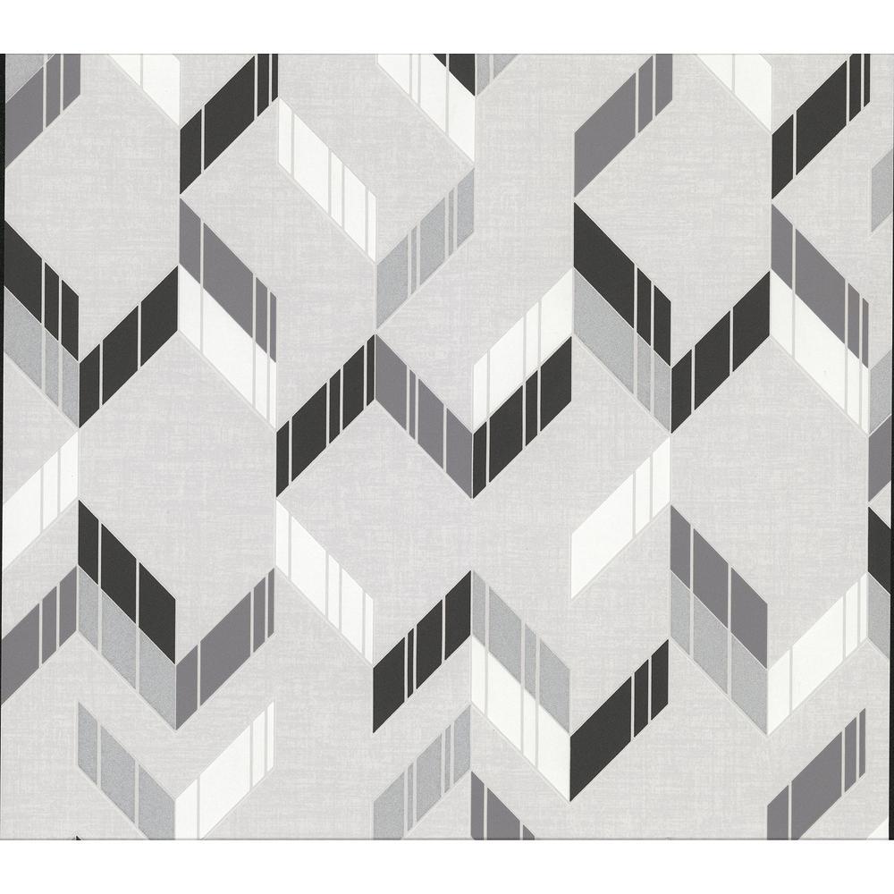 Verity Multicolor Herringbone Wallpaper Sample