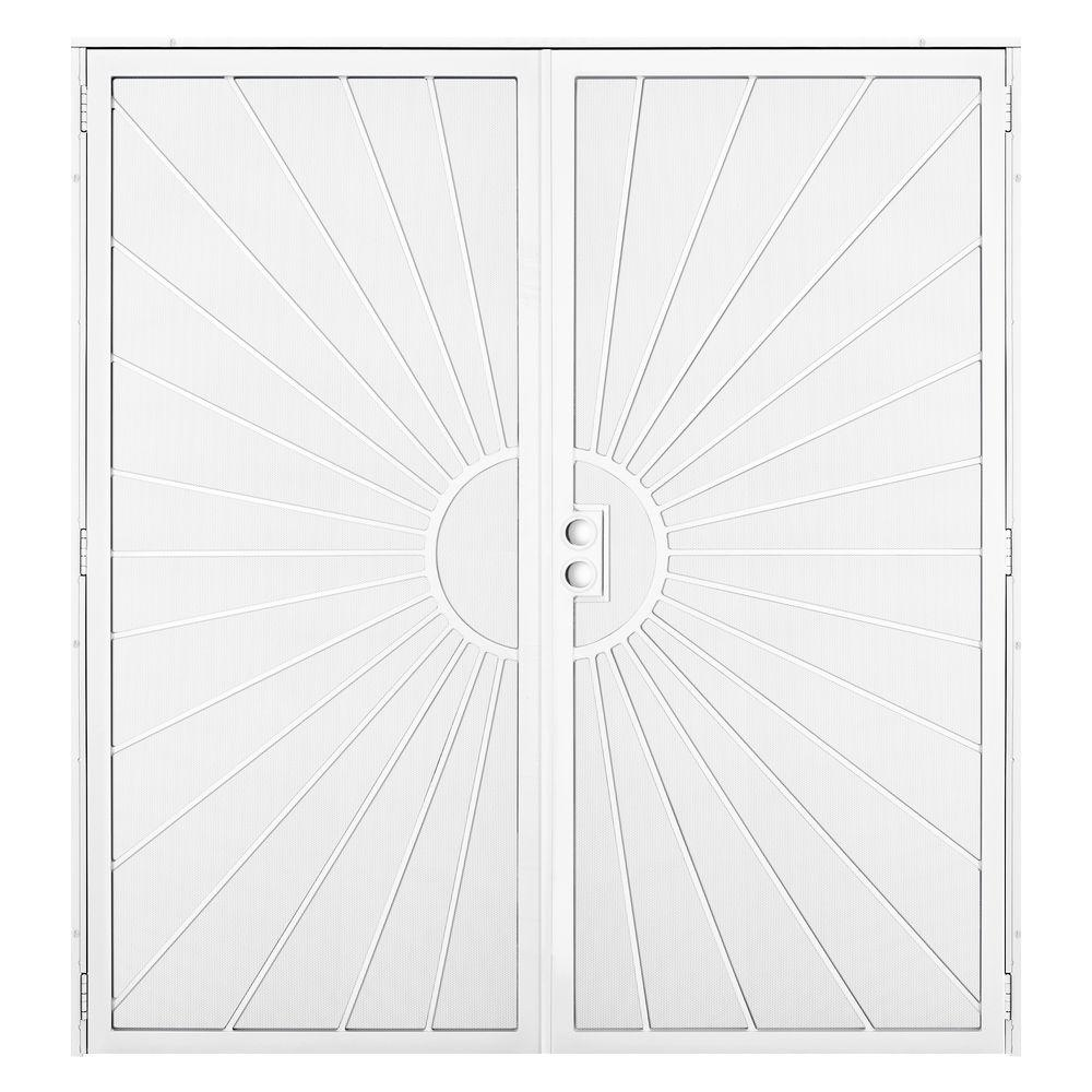 Unique Home Designs 72 in. x 80 in. Solana White Surface ...