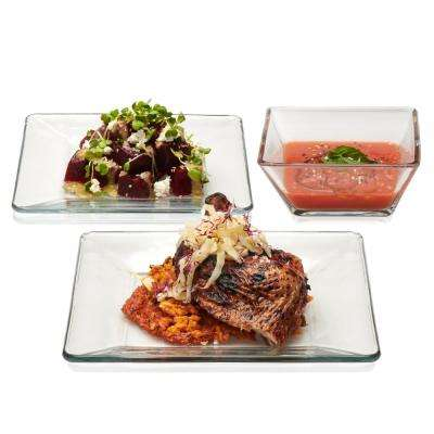 Tempo 12-Piece Glass Dinnerware Set