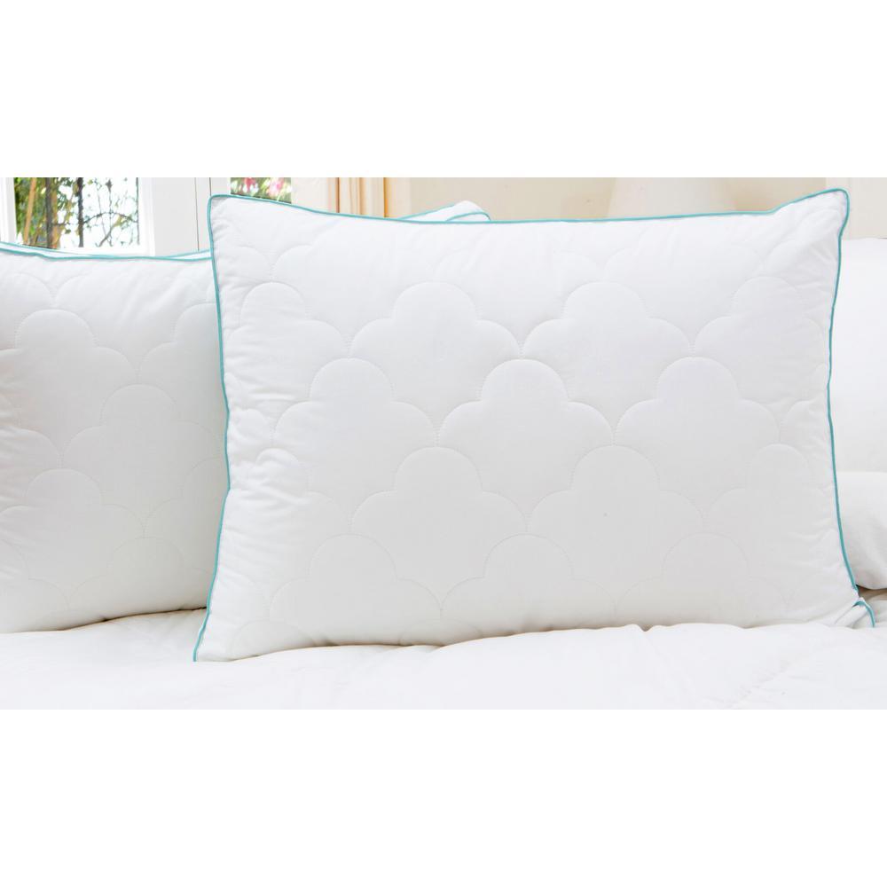 Scallop Cloud Down Alternative Jumbo Pillow (Set of 2)