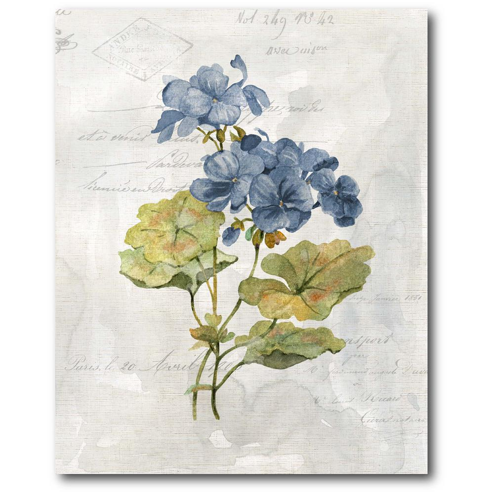 Courtside Market Blue Linen Geranium 16 in. x 20 in. Gallery-Wrapped Canvas Wall Art, Multi Color was $70.0 now $38.93 (44.0% off)