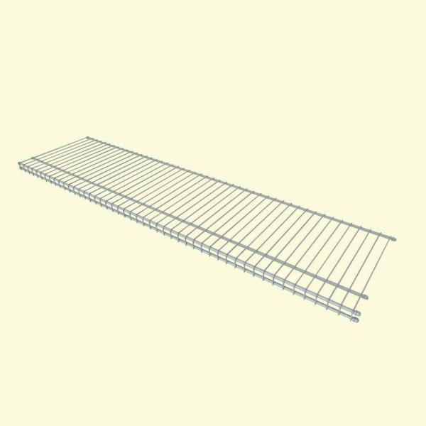 SuperSlide 12 in. D x 48 in. W x 1 in. H White Ventilated Wire Wall Mounted Shelf Kit