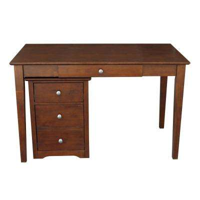 Espresso 2-Piece 48 in. Writing Desk and Rolling File