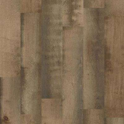 Take Home Sample - Major Event Maple Raven Rock Engineered Click Hardwood Flooring - 9.25 in. x 8 in.