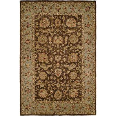 Empire Brown/Light Blue 9 ft. x 12 ft. Area Rug