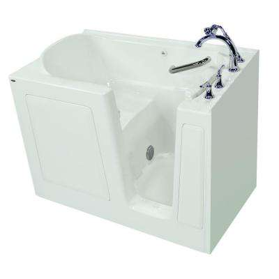 Exclusive Series 51 in. x 31 in. Left Hand Walk-In Soaking Tub with Quick Drain in White