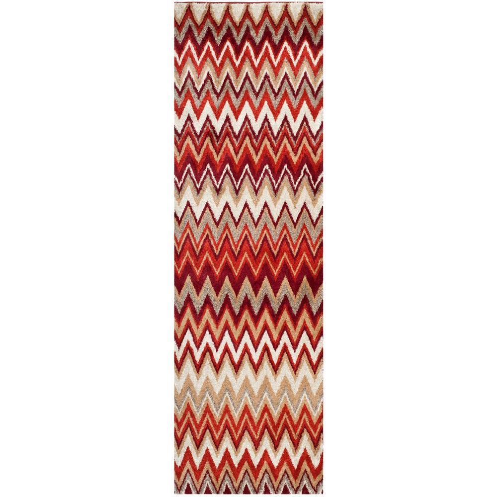 Tahoe Beige/Terracotta 3 ft. x 8 ft. Runner Rug