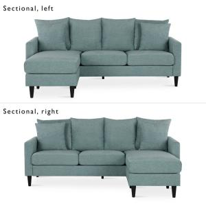 Incredible Dorel Living Henderson Teal Reversible Sectional Sofa With Caraccident5 Cool Chair Designs And Ideas Caraccident5Info
