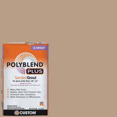 Polyblend Plus #380 Haystack 25 lb. Sanded Grout