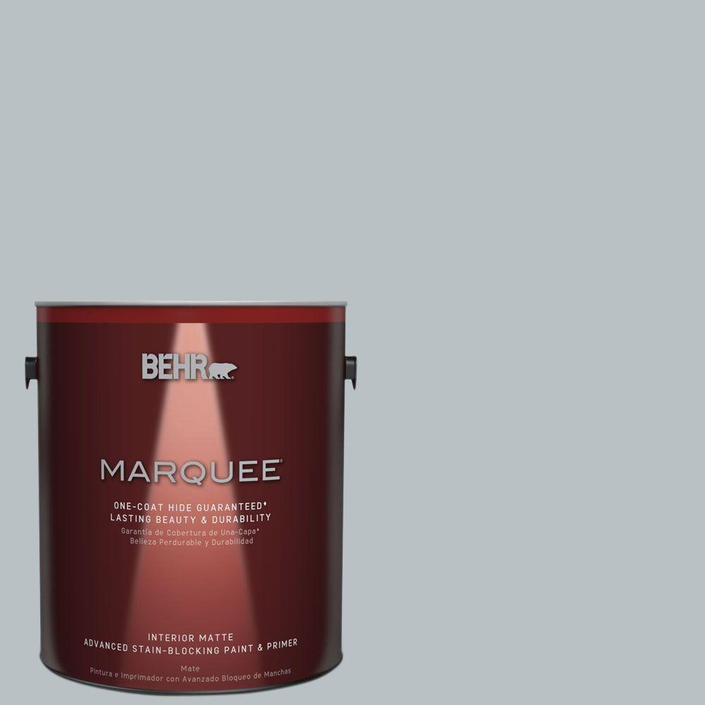 BEHR MARQUEE 1 gal. #MQ5-31 Distant Star Matte One-Coat Hide Interior Paint and Primer in One