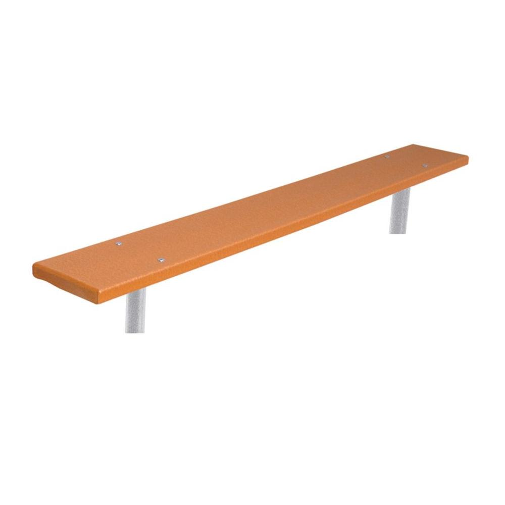 6 ft. Cedar Commercial Park Recycled Plastic Bench without Back Surface