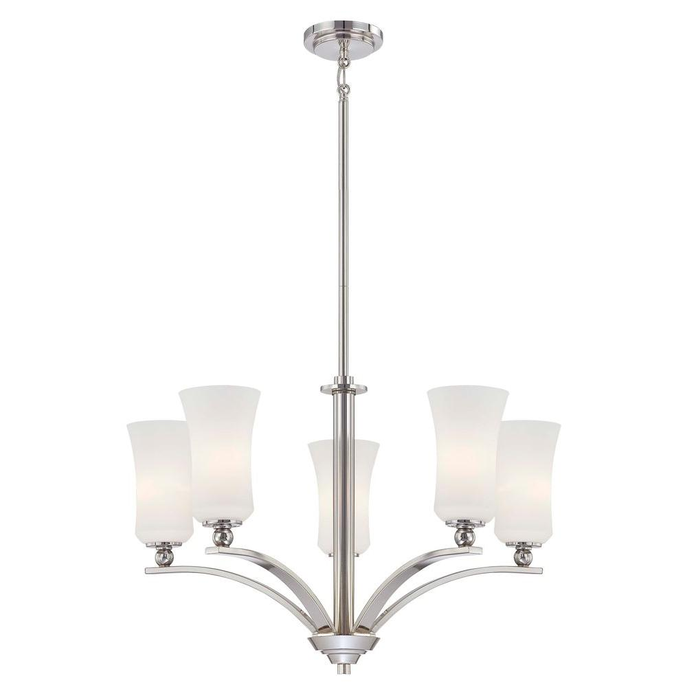 Minka Lavery 5-Light Polished Nickel Chandelier
