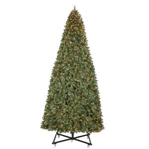 15 ft. Pre-Lit LED Wesley Pine Artificial Christmas Tree x 6558 Tips with 2400 Warm White Lights by