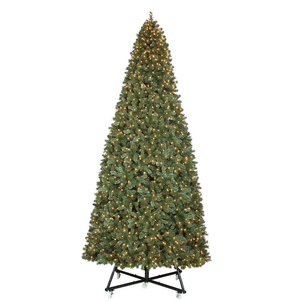 Pre Lit Led Wesley Pine Artificial Christmas Tree X 6558 Tips With 2400 Warm White Lights Tgf0m3p07l01 The Home Depot