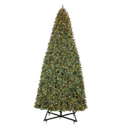 Pre-Lit LED Wesley Pine Artificial Christmas Tree x 6558 Tips with - Free Shipping - Pre-Lit Christmas Trees - Artificial Christmas Trees