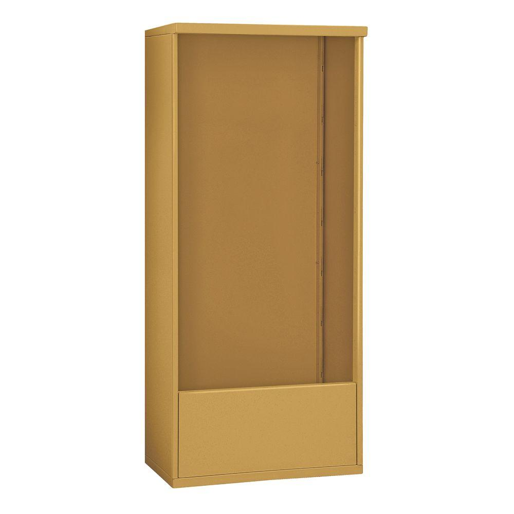 Salsbury Industries 3900 Series 32.25 in. W x 72 in. H x 19 in. D Free-Standing Enclosure for Salsbury 3716 Double Column Unit in Gold