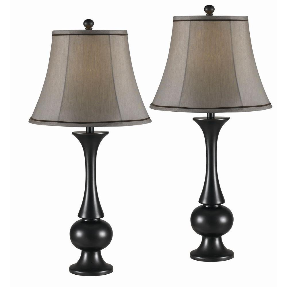 Metallic Bronze Table Lamp Set 2 Pack 21059mbz The Home Depot