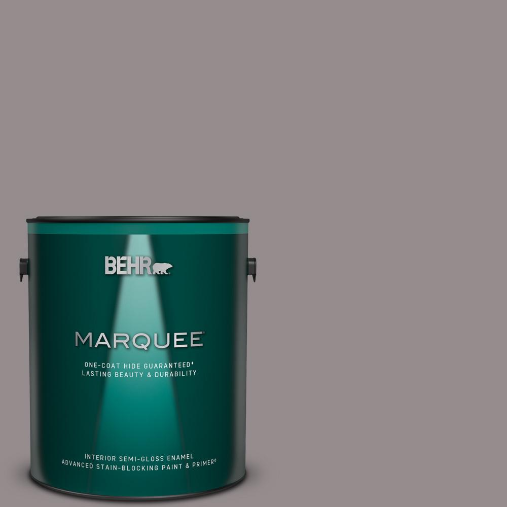 Behr Marquee 1 Gal T18 03 Graylac Semi Gloss Enamel Interior Paint And Primer In One 345401 The Home Depot