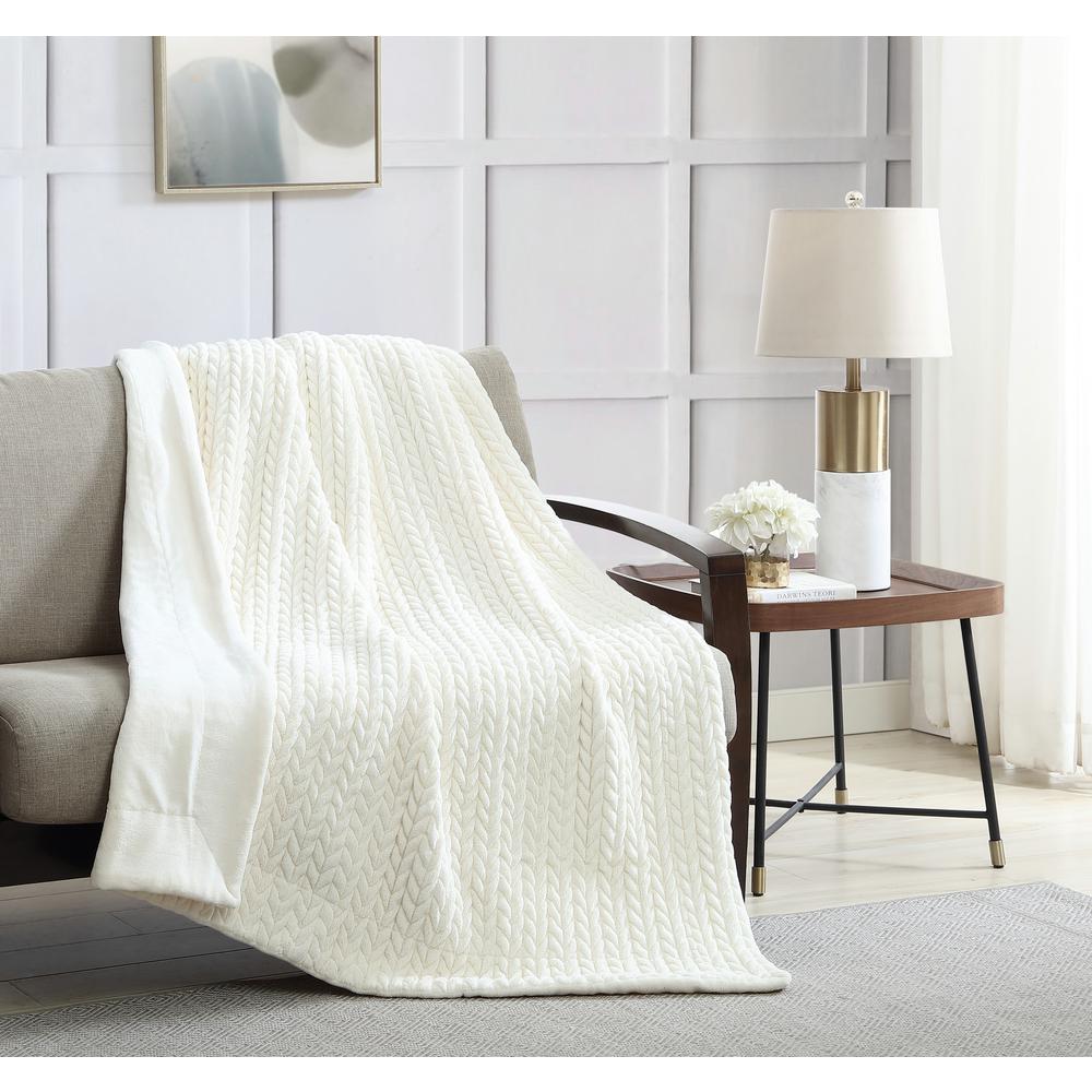 Quilted Braided Velvet Throw Blanket