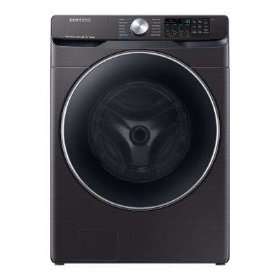 4 5 Cu Ft High Efficiency Fingerprint Resistant Black Stainless Front Load Washing Machine With Steam And Super Sd