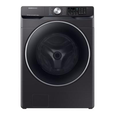 4.5 cu. ft. High-Efficiency Fingerprint Resistant Black Stainless Front Load Washing Machine with Steam and Super Speed