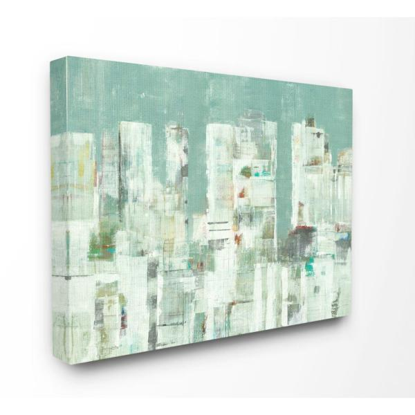 Stupell Industries Cityscape Abstract Shapes White Green Painting By Third And Wall Canvas Wall Art 20 In X 16 In Asa 144 Cn 16x20 The Home Depot