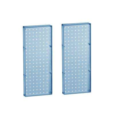 20.625 in H x 8 in W Pegboard Blue Styrene One sided Panel