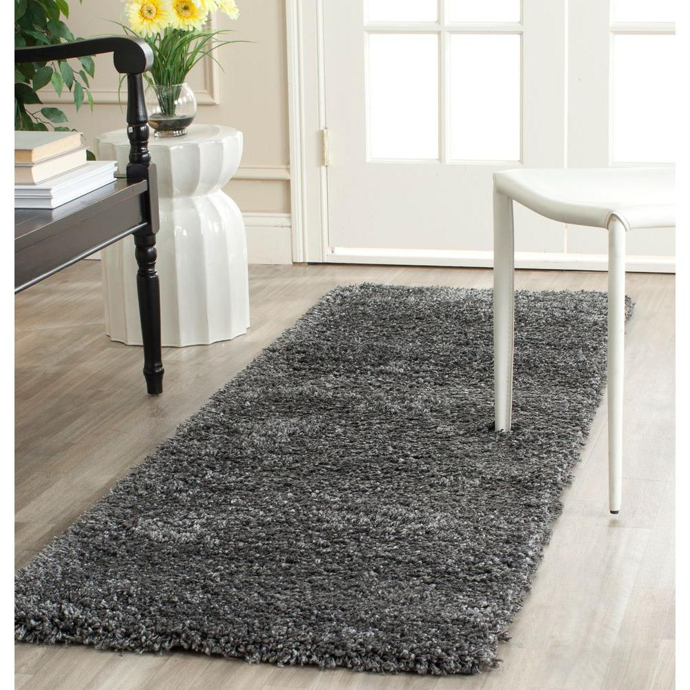 Safavieh California Dark Gray 2 Ft X 5 Runner Rug