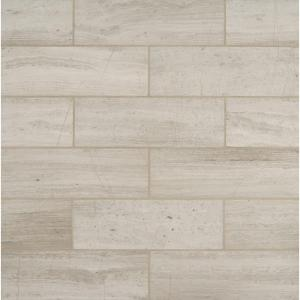 White Oak 4 In X 12 Honed Marble Floor And Wall Tile