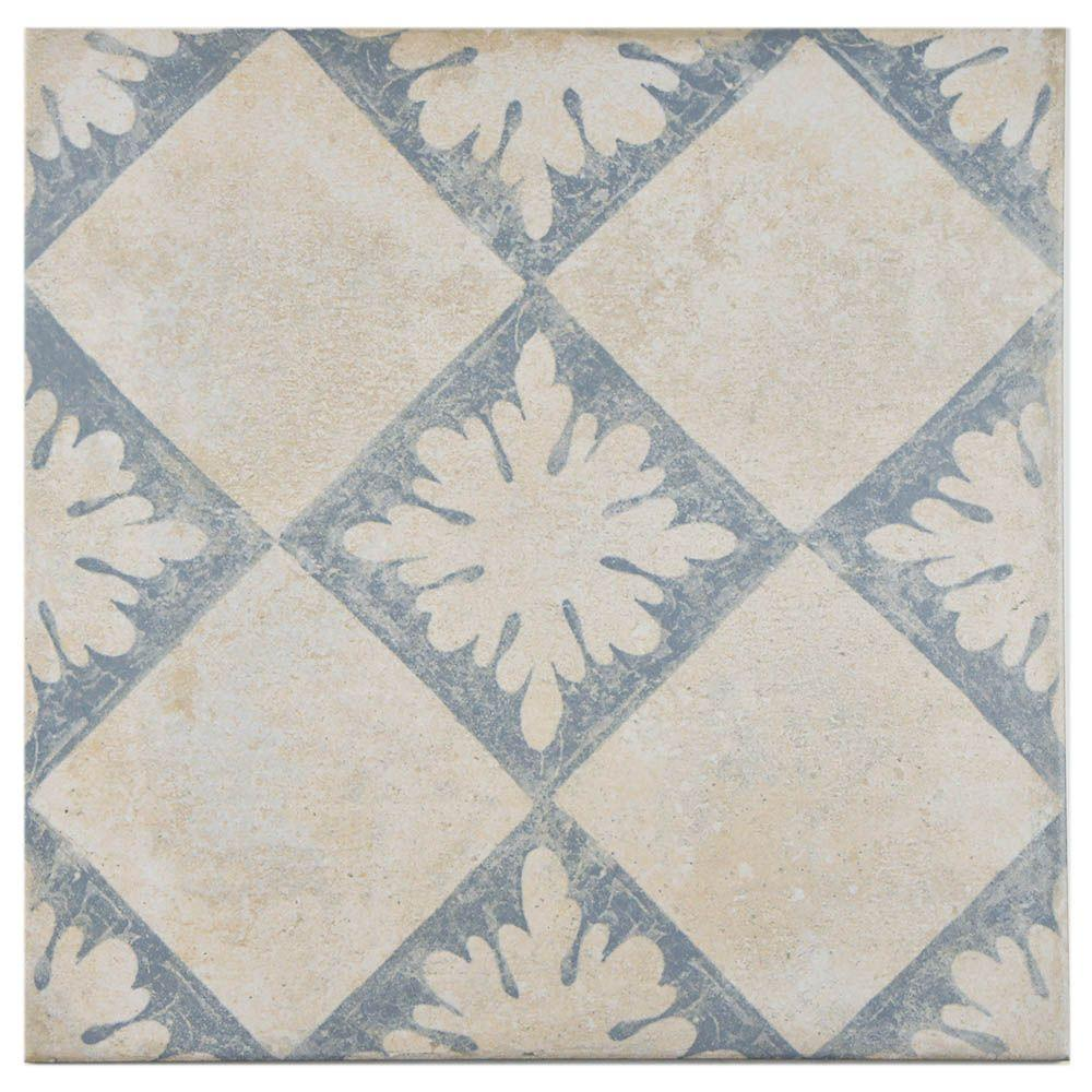 Merola Tile Abadia Blanco Decor 13 in. x 13 in. Porcelain Floor and Wall Tile (10.97 sq. ft. / case)