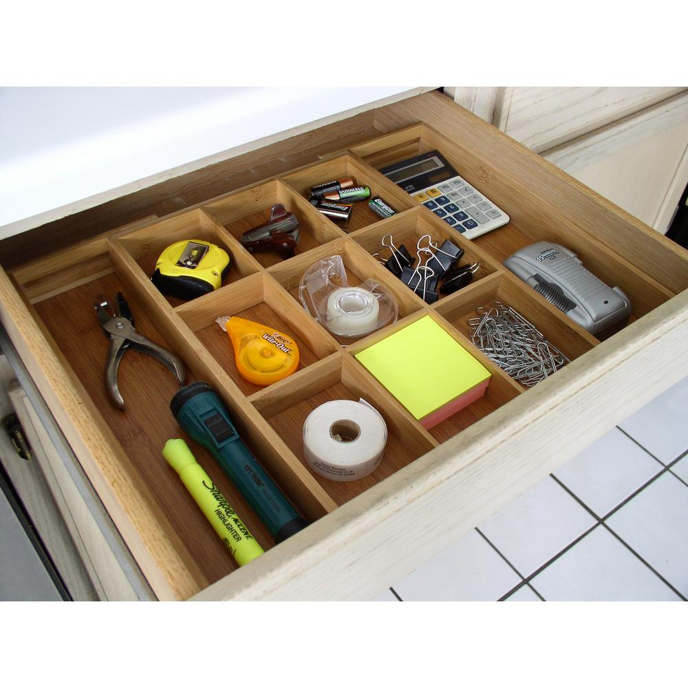 11-1/2 in. x 2 in. Bamboo Expandable Odds and Ends Drawer