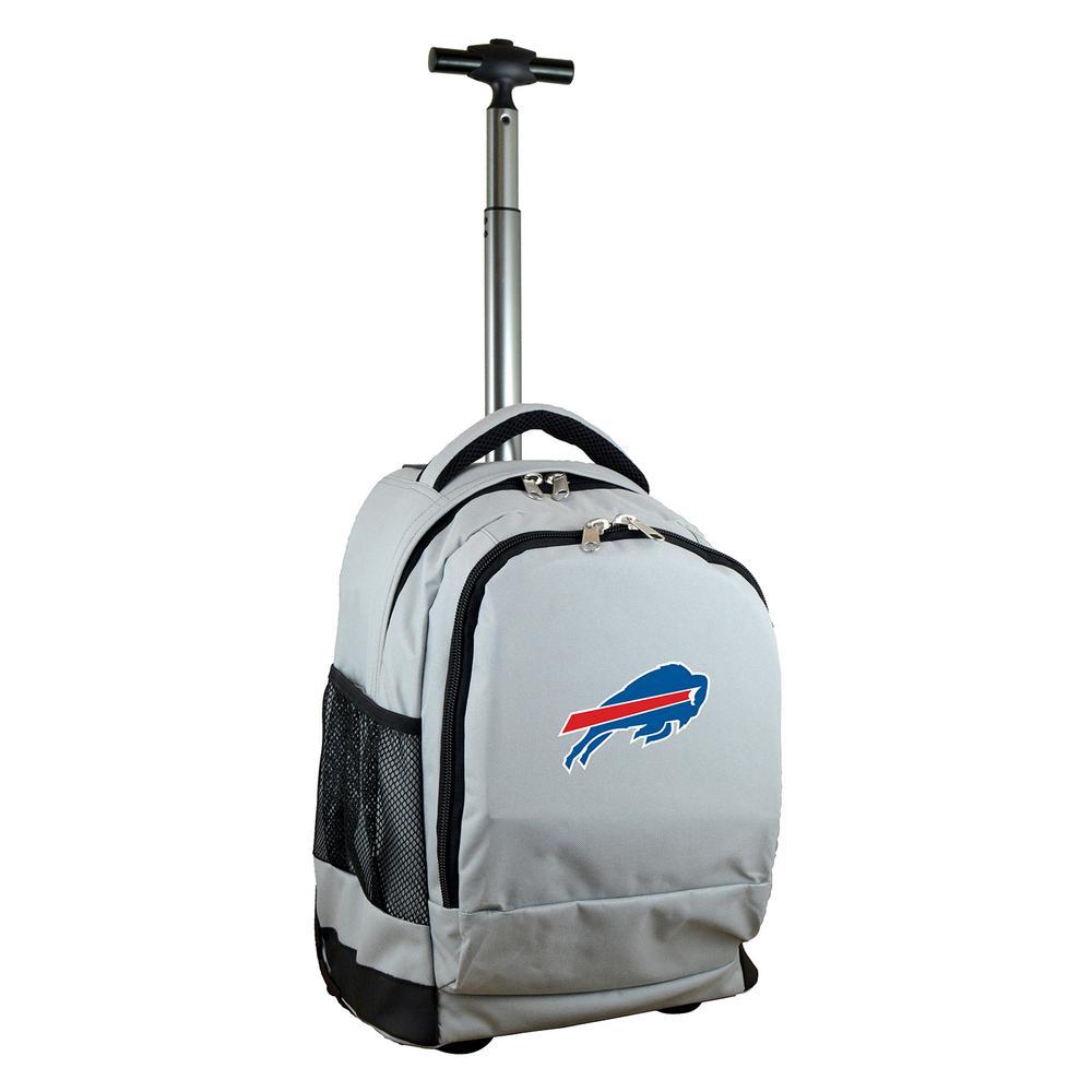 NFL Buffallo Bills 19 in. Gray Wheeled Premium Backpack