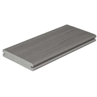 Paramount 1 in. x 5-4/9 in. x 1 ft. Flagstone Grooved Edge Capped Composite Decking Board Sample