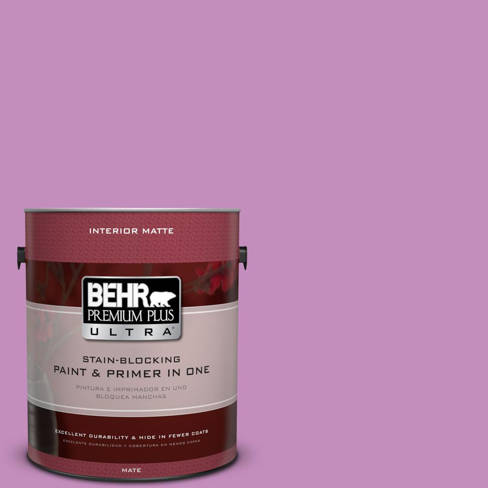 1 gal. #670B-5 Pretty Petunia Matte Interior Paint and Primer in