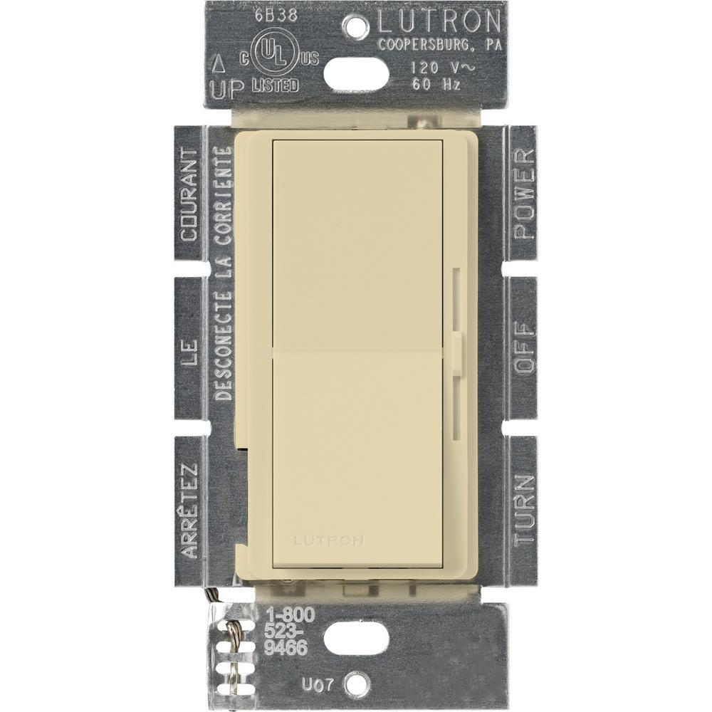 Lutron Diva 1.5 Amp Single-Pole/3-Way 3-Speed Fan Control, Ivory