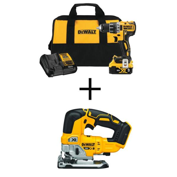 20-Volt MAX XR Cordless Brushless 1/2 in. Drill/Driver Kit with FREE 20-Volt Cordless Brushless Jigsaw