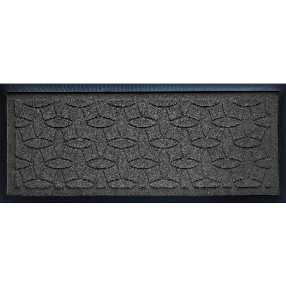 AquaShieldCharcoal15InX36InEllipseBootTray