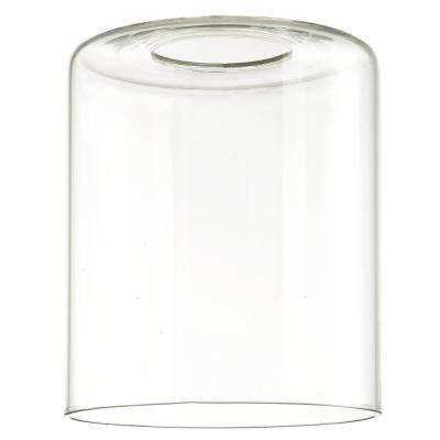 5 in. Clear Cylinder Shade with 2-1/4 in. Fitter and 4-5/16 in. Width