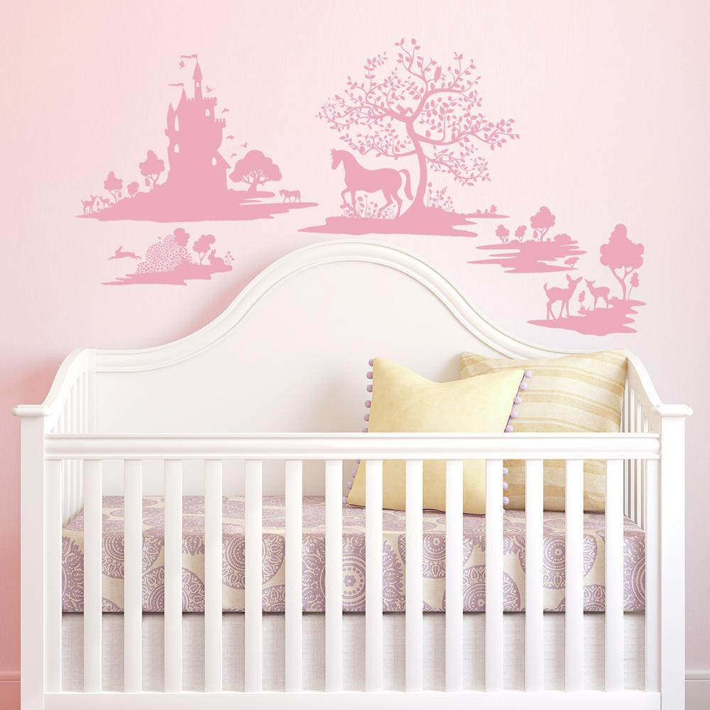 5 in. x 19 in. DwellStudio Fable 5-Piece Peel and Stick