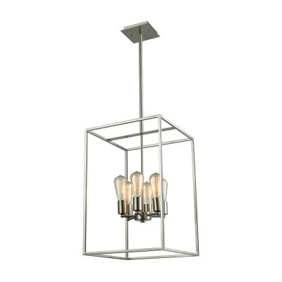 Williamsport 6-Light Brushed Nickel Chandelier